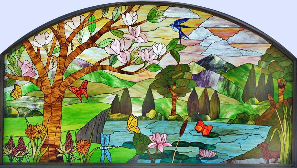 Stained Glass Designs : Stained glass windows custom leaded beveled