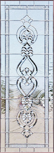 4INFSETSP custom leaded glass bevel window.