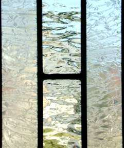 leaded glass transom window of custom at glass by design