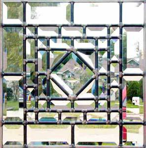 all beveled leaded glass window