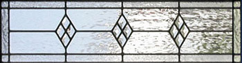 Custom leaded glass diamonds transom window