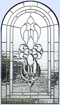 sb34sarch leaded glass arched window custom glass design