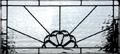 Custom leaded glass beveled transom window window
