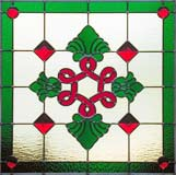 Custom stained and leaded glass inf red3 Victorian style window