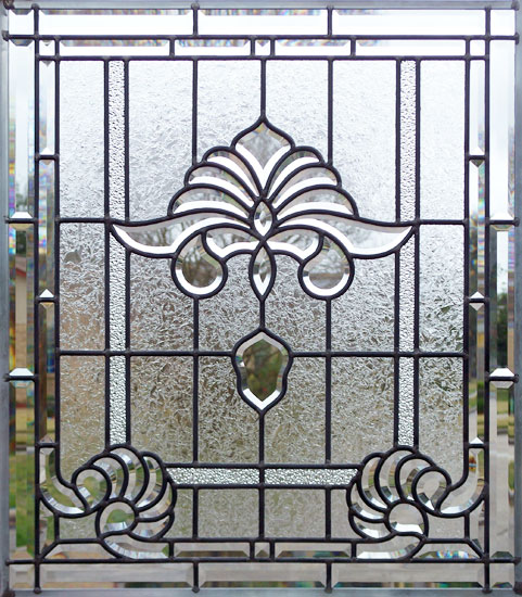 Custom leaded glass bevel window AB03P6