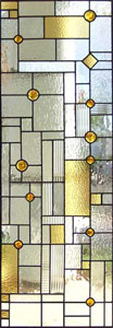 Custom stained and leaded glass Frank Lloyd Wright inspired window
