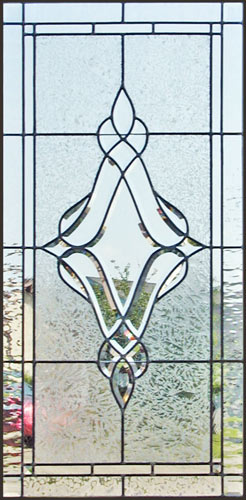 custom leaded glass window with JS18 bevel set.