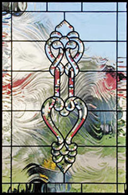 Custom leaded glass NF bevel window