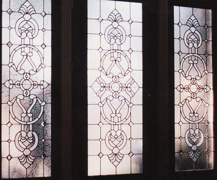 Nfmanyein Leaded Glass Door Intricate Designed Sidelight Windows