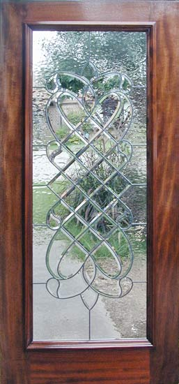 Door Glass Designs Fascinating Sb33Wd Mahogany Door With Leaded Bevel Glass Window Custom Glass . Inspiration Design