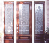 Custom beveled entry with large sidelights