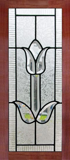 Tulipcabp Beveled Tulip Leaded Glass Small Door Window