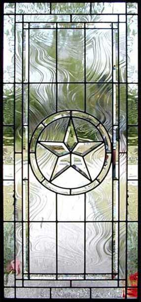 Texas Star Leaded Beveled Glass Window Custom Glass Design