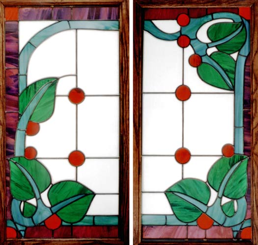 Wales Ivy Stained Glass Window Pass Through Bar Custom