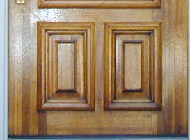 photo of laminated wood in a door