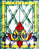 Custom stained and leaded glass victrn20 Victorian style window