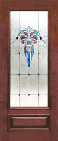 VICT42D VICTORIAN STYLE STAINED AND LEADED GLASS DOOR CUSTOM AT BY DESIGN