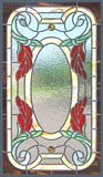 Custom stained and leaded glass vict73p Victorian style window