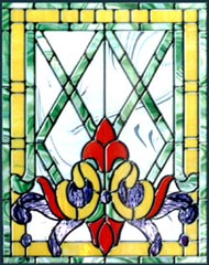 stained and leaded glass window Victorian 20
