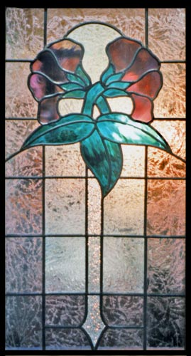 Ausie Flower Stained And Leaded Glass Window Custom Glass
