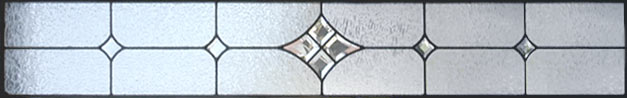 leaded glass bevel transom window
