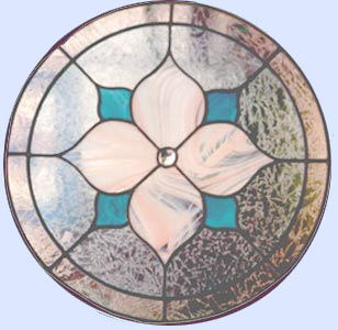 stained and leaded glass circle
