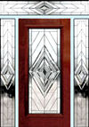 D100N leaded glass beveled entry