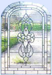 Custom leaded beveled glass window