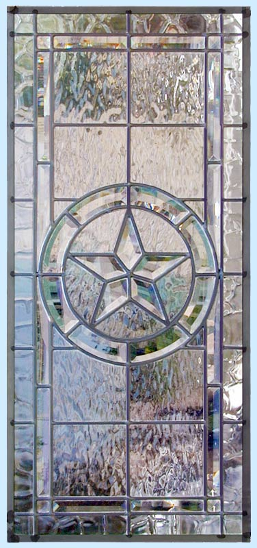 Texas Star 9t Horizontal Leaded Glass Transom Beveled
