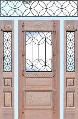 Custom victorian style door sidelights leaded glass for Custom design windows