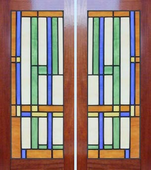Stained Glass Designs  Doors on Leaded Stained Glass Frank Lloyd Wright Abstract Windows Glass Design