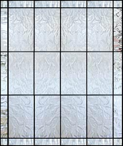 Autumn P Large Leaded Glass Privacy Window Custom Glass Design