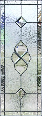 Custom leaded glass bevel sidelight window CH74P