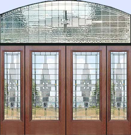 D100me leaded glass entry with pencil bevel windows custom for Custom transom windows