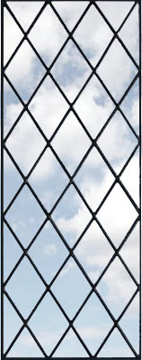 leaded glass diamonds window custom glass design