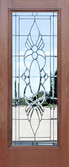 P12 leaded glass door