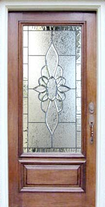 Door Glass Designs Delectable P32Gc4D Mahogany Door Leaded Beveled Glass Window Custom Glass Design Design Ideas
