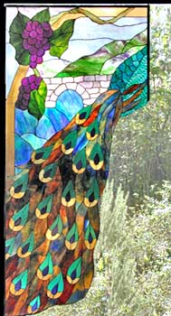 Peacock - Stained Glass Lamps Shade Pattern