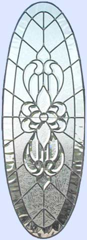 leaded glass beveled window