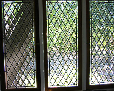 All beveled leaded glass diamond windows custom glass design for Decorative stained glass windows