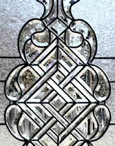 CH690B leaded glass bevel set closeup