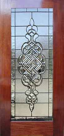 leaded glass door with CH690 leaded glass bevel window