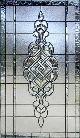 Ch690p Large Leaded Glass Beveled Window Custom Glass Design