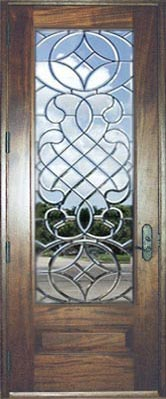 CHBD4L all-beveled leaded glass door at Glass by Design