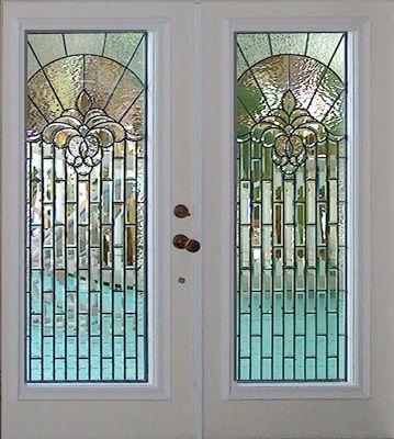 Ll03e6 Doors Leaded Bevel Glass Windows Custom Glass Design