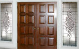 CH690E leaded beveled glass bevel entry