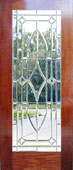 mahogany door with chbd8l leaded glass bevel window