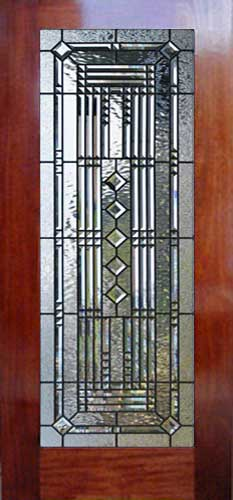 Abstract38d Leaded Glass Abstract Pencil Bevels Door
