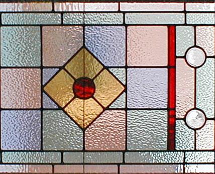 Art Deco Leaded Stained Glass Art Deco Style Window Custom