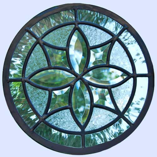 circles leaded stained glass custom windows custom glass